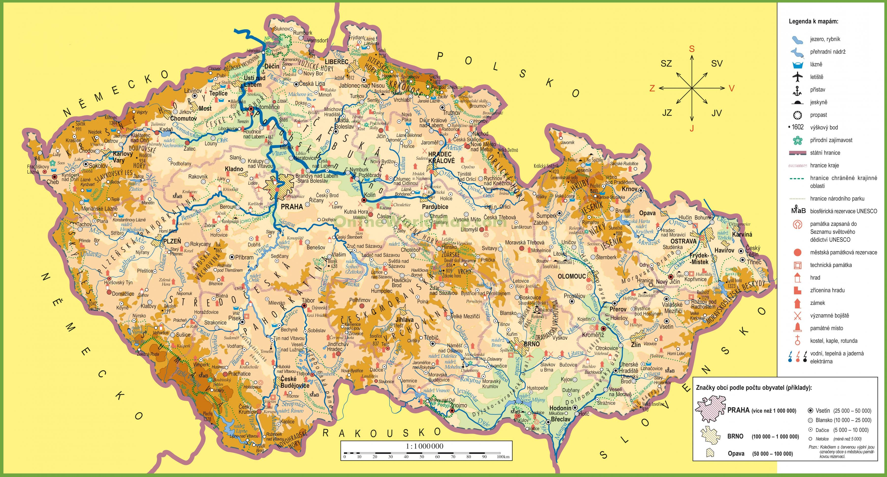tjeckien karta Tjeckien på karta   Karta tjeckien och Östra Europa   Europa) tjeckien karta