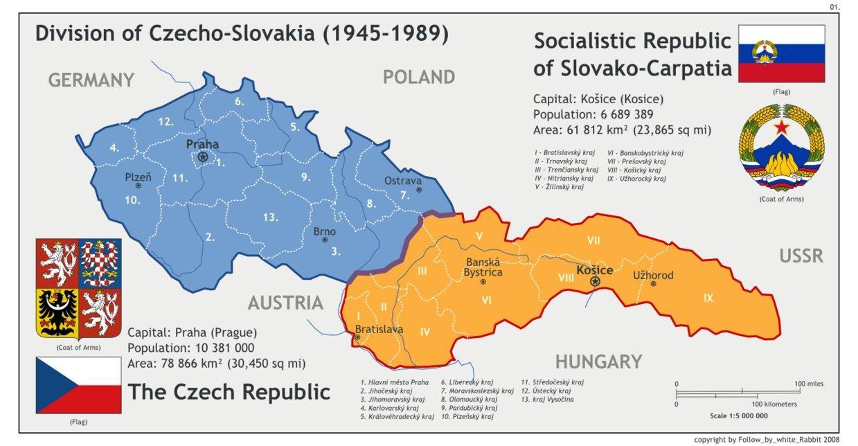 karta tjeckoslovakien Tjeckoslovakien karta 1945   Karta av Tjeckoslovakien 1945 (Östra  karta tjeckoslovakien