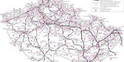 Karta Tyskland Tag.Tjeckien Tag Karta Tjeckien Tag Karta Ostra Europa Europa